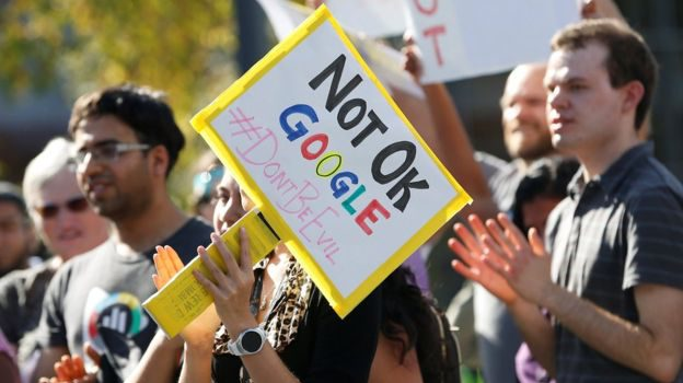 Google staff walk out over women's treatment