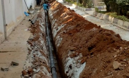 Dasarahalli suffers water pipeline work